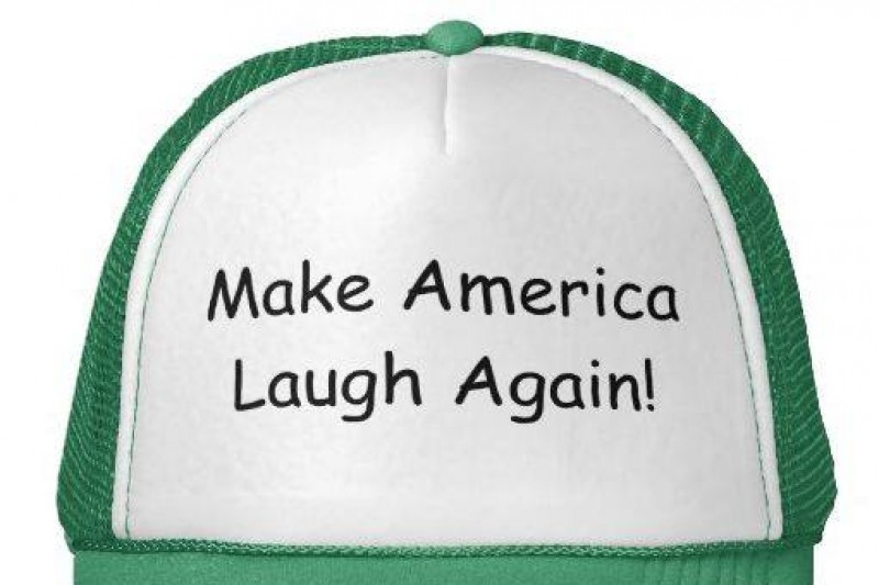 Click on the hat to check out the new #MakeAmericaLaughAgain blog.