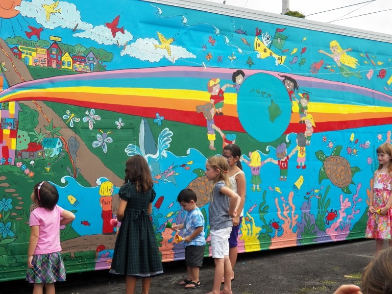Fundraiser by hopper sheldon artuprising artday brings for Creation mural kids