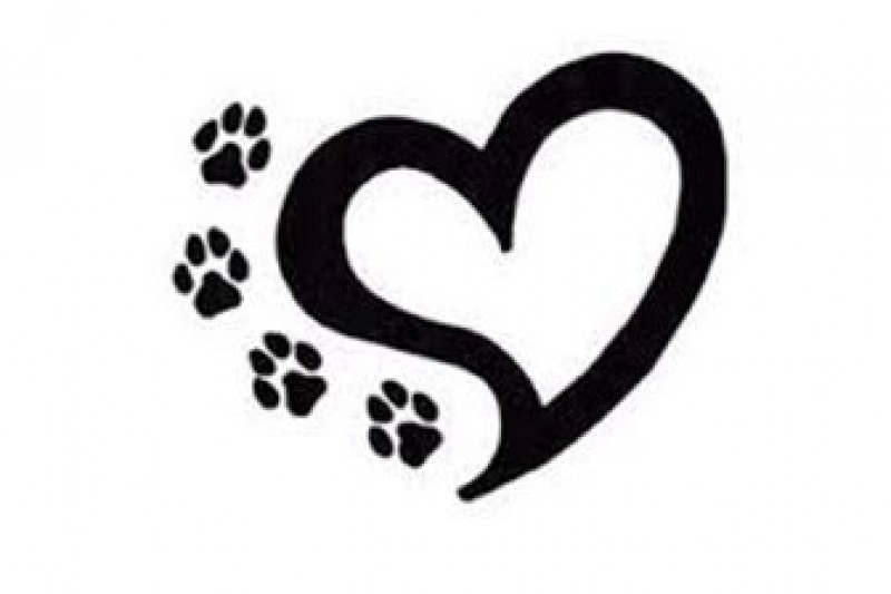 fundraiser by theresa york little paws big hearts Paw Print Outline Clip Art Small Paw Print Heart Clip Art