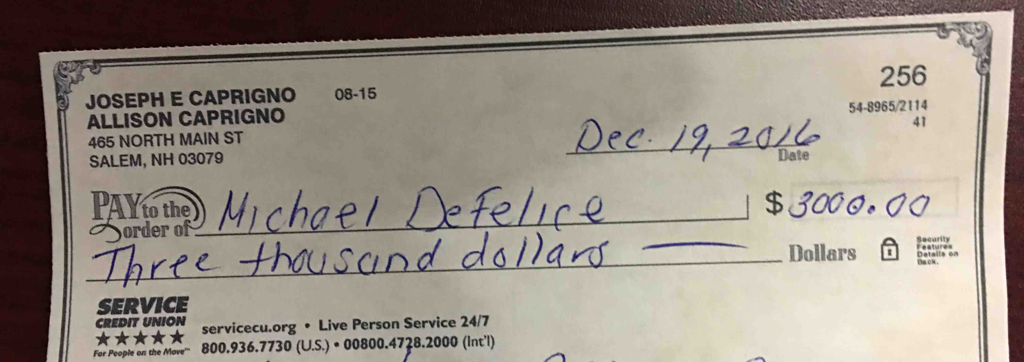 defelice family fund by allison downing caprigno gofundme another check issued hopefully they can an affordable apartment soon to put this to good use