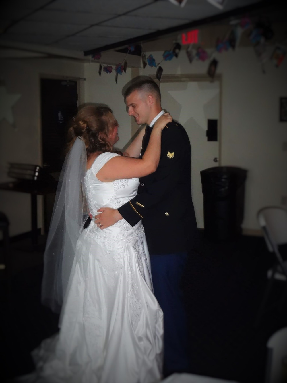My Wife Nicole And I Dancing At Allstar Lanes During Our Wedding